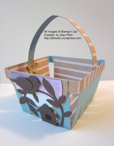 Father's Day Basket - WCC22 - Heidi's Challenge - Side Basket view - Jean Fitch
