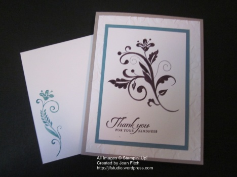 Flowering Flourishes - card from Card Box - Jean Fitch