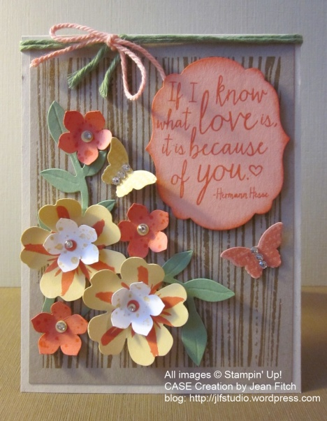 WCC23 - Marsha's Mother's Day Flower Inspiration - CASE Creation by Jean Fitch