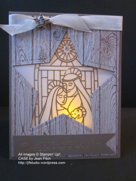 Gentle Peace Luminaria Card lit - Jean Fitch