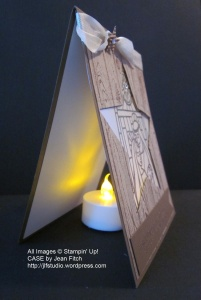 Gentle Peace Luminaria side view - Jean Fitch