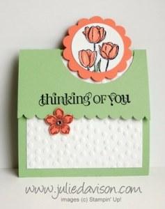 Tulip Flap Fold Card - Julie Davison
