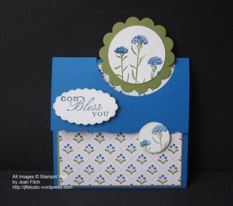 WCC29 - Wild About Flowers Flap Fold Card - Jean Fitch - Wild about Flowers & Trust God stamp sets