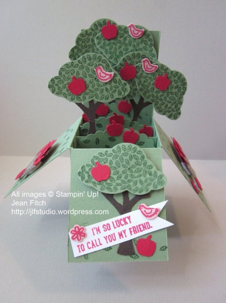Trees in a Box - August 2015 Watercolor Hop - Jean Fitch - Sprinkles of Life stamp set, Tree Builder Punch