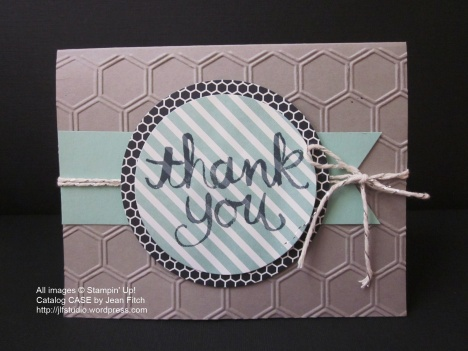 Watercolor Thank You CASE the catalog - 2015 August Wacky Watercooler Hop - Jean Fitch