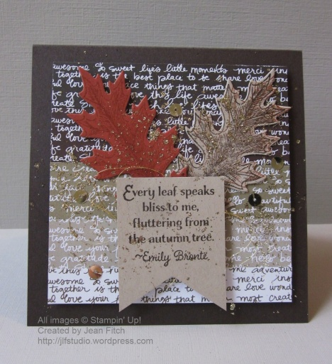 WWC 34 - Fluttering Leaves - Ombre Technique Challenge - Jean Fitch
