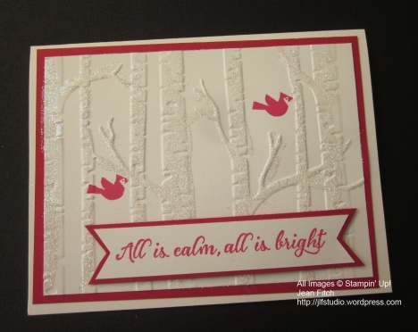All is Bright - Cardinals in the Dazzling Trees - Jean Fitch October 2015