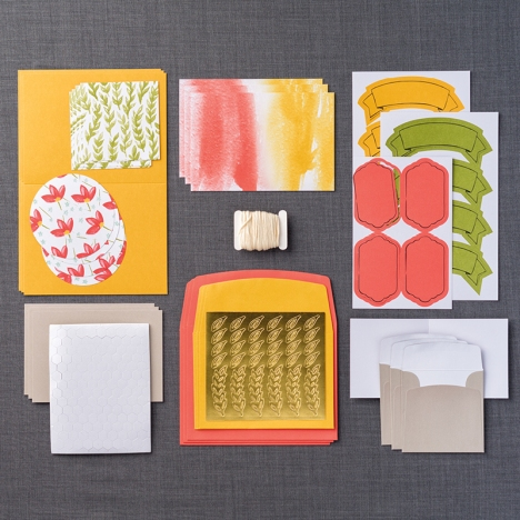 October 2015 Paper Pumpkin Refill Kit Contents