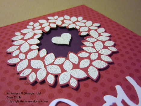 Watercooler Wednesday Challenge WWC44 - Wedding dots and wreath- detail - Jean Fitch