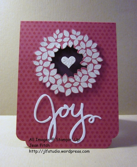 WWC44 - Watercooler Wednesday Challenge - Wedding Dots and Wreath - Jean Fitch