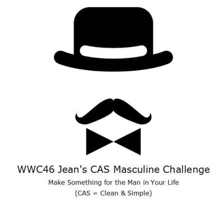 Watercooler Wednesday Challenge - WWC46 Jean's CAS Masculine Challenge