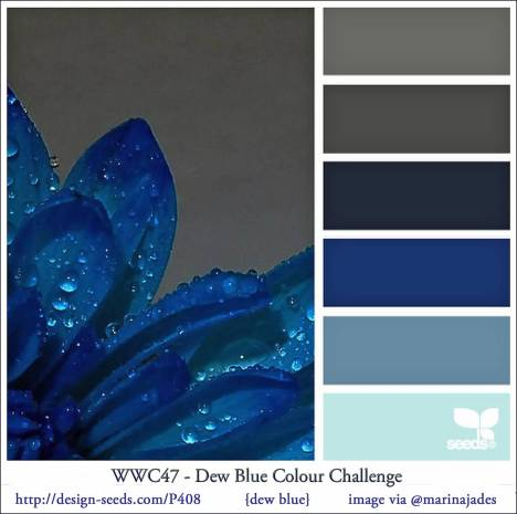 Watercooler Wednesday Challenge - WWC47- Marsha's Dew Blue Colour Challenge