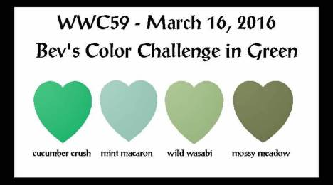 Watercooler Wednesday Challenge - WWC59 Bev's challenge in green