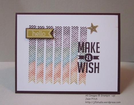 Make a Wish Birthday Card - April 2016 Watercooler Blog Hop - Jean Fitch - Perfect Pennants