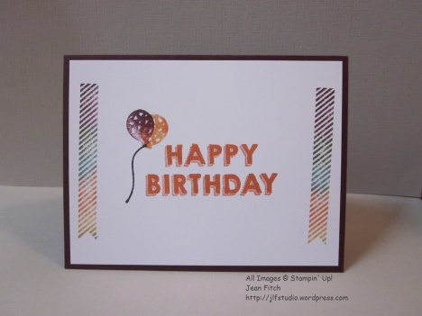 Make a Wish Birthday Card interior - Watercooler April 2016 Blog Hop - Perfect Pennants & Party Wishes