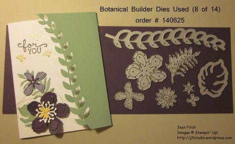 WWC61 Tutorial - Botanical - Vines & Flowers Flap Card - Jean Fitch
