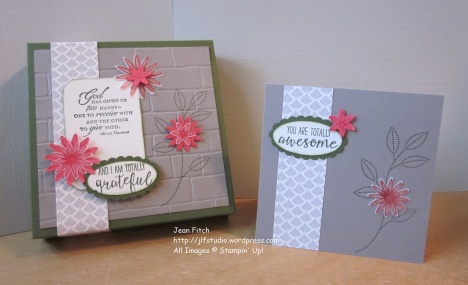 Watercooler Wednesday Challenge - WWC70 - Marsha's Sketch Challenge - Card Box Set - Jean Fitch