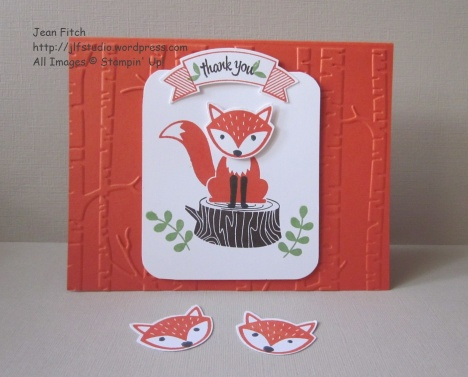 Wacky Watercooler June Blog Hop - Foxy Friends in the Woodland Landscape - Jean Fitch