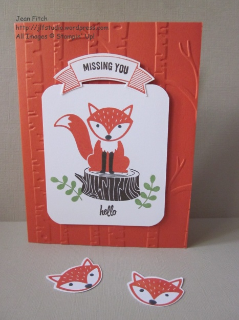 Wacky Watercooler June Blog Hop - Foxy Friends in the Woodland Portrait - Jean Fitch