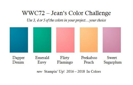 Watercooler Wednesday Challenge Graphic - WWC72 Jean's In Color Color Challenge - new in colors