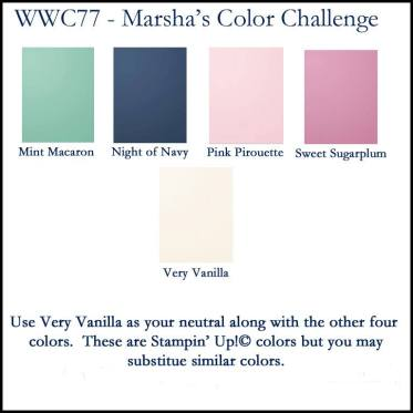 Watercooler Wednesday Challenge - WWC77 - Marsha's Color Challenge
