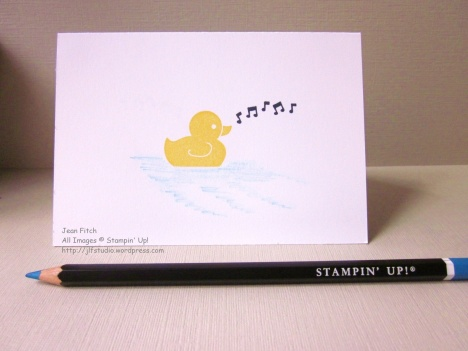 Watercooler Wednesday Challenge - WWC80 - Rubber Ducky in a Pudddle - Jean Fitch - Something for Baby Stamp Set
